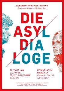 Die Asyl-Dialoge im Heimathafen Postkarte